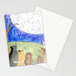 Wild and Wonderous Moon Stationery Cards