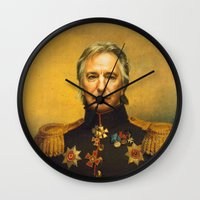 replaceface Wall Clocks featuring Alan Rickman - replaceface by replaceface