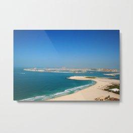 Dubai - Jumeirah Beach Coastline Metal Print