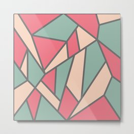 Geometric Colour Pattern V6 Metal Print