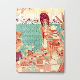 Alice's Tea Party Metal Print