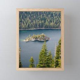 Inspiration Point, Emerald Bay, Lake Tahoe Framed Mini Art Print