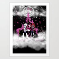 monster high Art Prints featuring Monster High by Joshua Epling