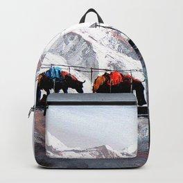 Herd Of Mountain Yaks Himalaya Backpack