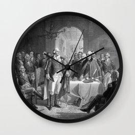 Washington Meeting His Generals Wall Clock