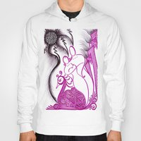 romance Hoodies featuring Romance by Gina Miranda Art
