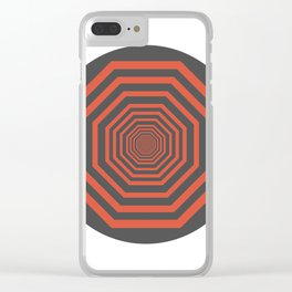 Optical Illusion Clear iPhone Case