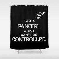 fangirl Shower Curtains featuring Uncontrollable Fangirl by Oh the Book Feels!