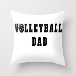 Volleyball Dad Quote Throw Pillow