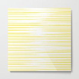 Yellow Summer Stripes Metal Print