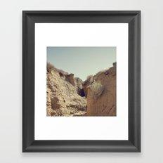 Desert Rut Framed Art Print
