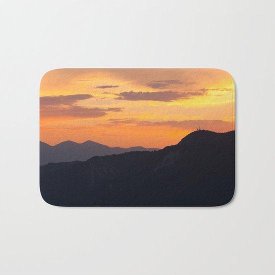 Mountain Sunset III (Big Bear Lake, California) Bath Mat