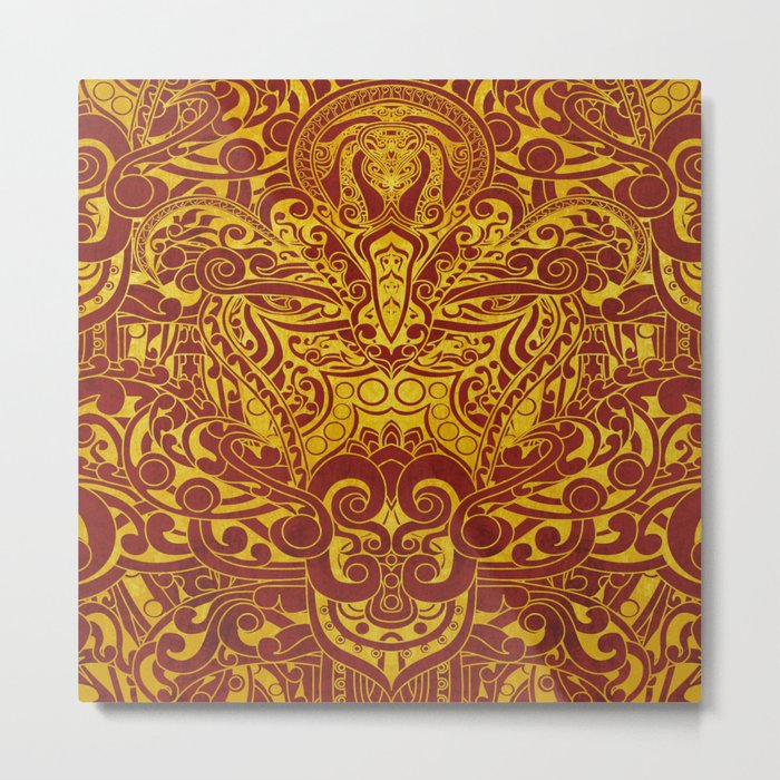 Balinese abstract art Metal Print