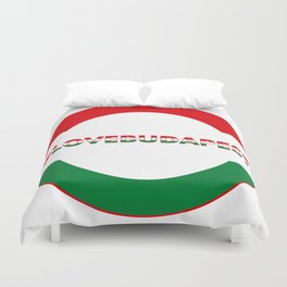 Hashtag Love Budapest, circle, color Duvet Cover