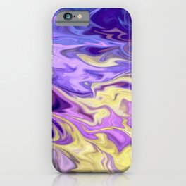 Marble effect abstract pattern in shades of purple  iPhone Case