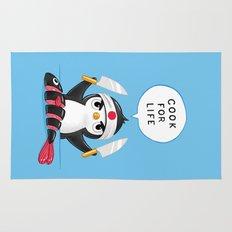 Penguin Chef Rug