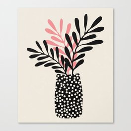 Still Life with Vase and Three Branches Canvas Print