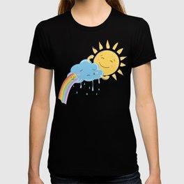 Sun cloud and rainbow friends T-shirt