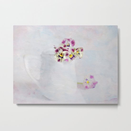 little pansies Metal Print