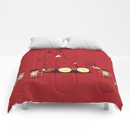 Trojan Piñata Comforters