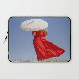 Lady in Red Laptop Sleeve
