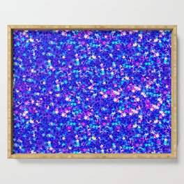 Sparkle Confetti Stars   Multi-color with Blue Tint   Serving Tray