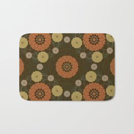 Autumn abstract dahlia pattern Bath Mat