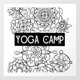 Yoga Camp Minneapolis Art Print