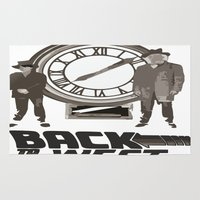 back to the future Area & Throw Rugs featuring BACK TO THE FUTURE by Rocky Rock