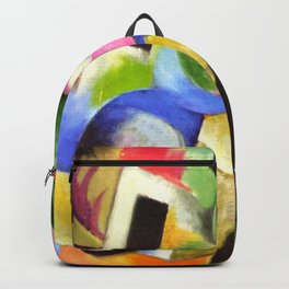 """Franz Marc """"Small Composition II also known as House with Trees) (Haus mit Bäumen) Backpack"""