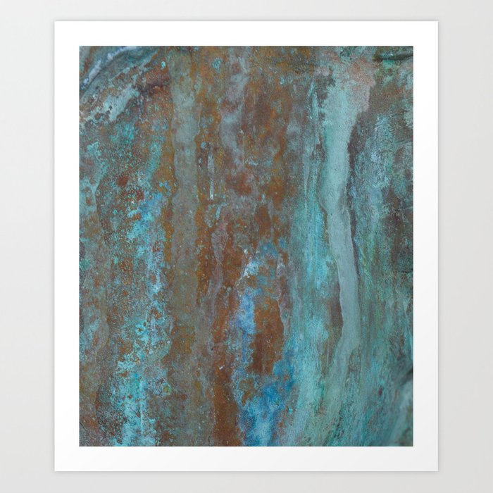 Patina Bronze rustic decor Art Print