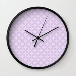 Abstract geometric pattern lavender Wall Clock