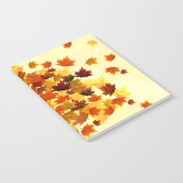 Red Maple Leaves Notebook