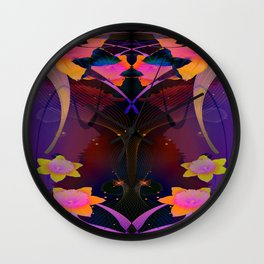 Flourescent Daffodils Wall Clock