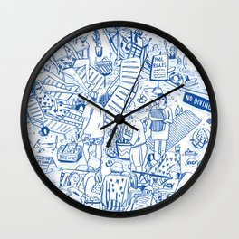 Poolside with Spirit Wall Clock