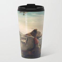 Wonderful World of Teddy Metal Travel Mug