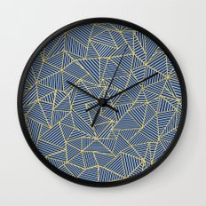 Ab Out Double R Navy Wall Clock