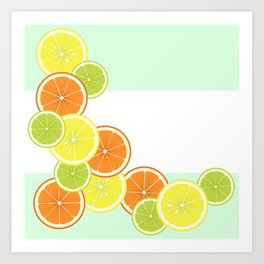 Citrus Fruits Art Print
