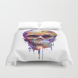 colorful skull Duvet Cover