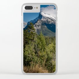 View of Mount Rundle Clear iPhone Case