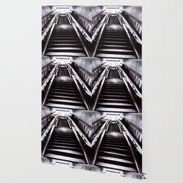 Silver Stairway Wallpaper