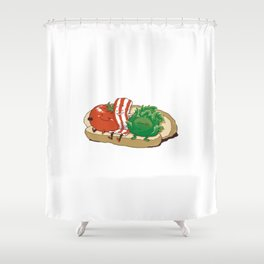 BLT Together Forever Shower Curtain
