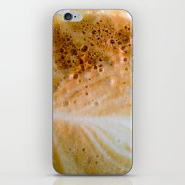 Close-up of a cafe latte iPhone Skin