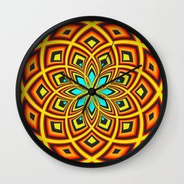Spiral Rose Pattern D 2/4 Wall Clock