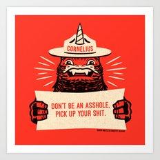 Ranger Cornelius Says... (swears) Art Print