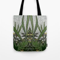 plants Tote Bags featuring Plants by Gun Alfsdotter