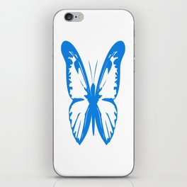 Large blue butterfly iPhone Skin