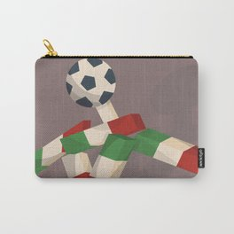 Vintage football poster, Ciao, Italia 90 mascotte, retro football, 1990 world cup Carry-All Pouch