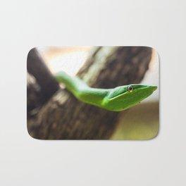 green vine snake head Bath Mat