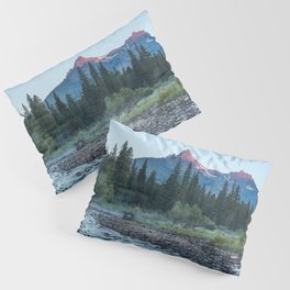 Pilot Peak - Mountain Scenery at Sunrise in Northeastern Yellowstone Pillow Sham